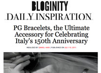 PG Bracelets, the ultimate accessory for celebrating Italy's 150th Anniversary