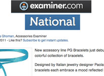 New accessory line PG Bracelet just debuted colorful collection of bracelets